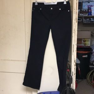 Michael Kors used boot cut black jeans 👖
